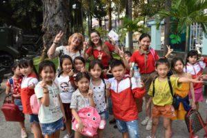 Zoe with Vietnamese Kids